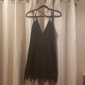 Black strappy Express dress